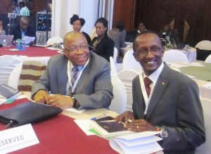 L-R Executive Directors Tade Aina (PASGR) and Muchiri Nyaggah (Local Development Research Institute - LDRI)
